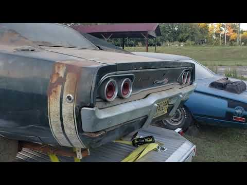 Pulling 3 awesome iconic 4 speed Mopars out of a barn outside Troy, AL