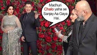 Maduri Dixit IGNORES Ex-Boyfriend Sanjay Dutt @Ranveer Singh & Deepika Padukone MARRIAGE Party