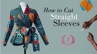 DIY: How To Cut Straight Sleeves
