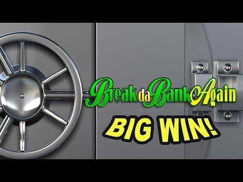 BIG WIN On Break Da Bank Again Slot - £3.15 Bet