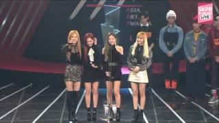 BLACKPINK - Best New Artists Rookie Awards (2016 Asia Artist Awards) (161116)