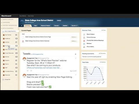 Blackboard Websites Site Manager Editing Training