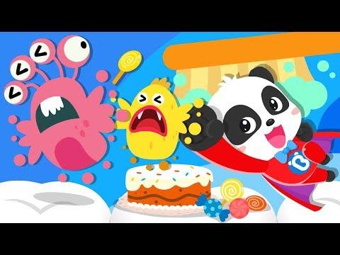 Super Panda Defeats Bad Germs  Yes Yes Bedtime Song  Nursery Rhymes  Kids Songs  BabyBus
