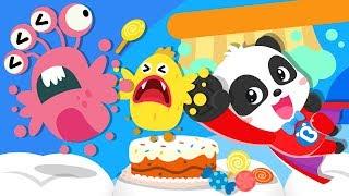 Super Panda Defeats Bad Germs | Yes Yes Bedtime Song | Nursery Rhymes | Kids Songs | BabyBus
