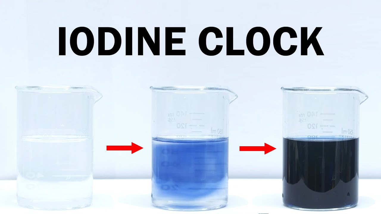 iodine clock reaction Chemistry 189 foundations of chemistry ii - honors spring 2011 the iodine clock and reactions that oscillate  part 2  department of chemistry  university of kansas.