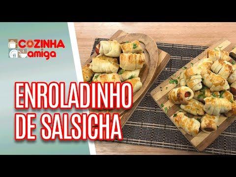 Enroladinho De Salsicha Assado E Frito - Gabriel Barone | Cozinha Amiga (03/07/18)