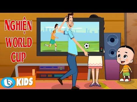 Nghiện Bóng Đá World Cup | Hoạt Hình Vui Nhộn Bố Đầu Nhỏ Con Đầu To | Phim Hoạt Hình Hay Nhất 2018