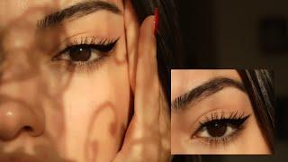 NASIL EYELİNER ÇEKİYORUM? 🔪| Gözü Çekik Gösteren Yarım Eyeliner + Eyeliner Sürme Teknikleri ✮