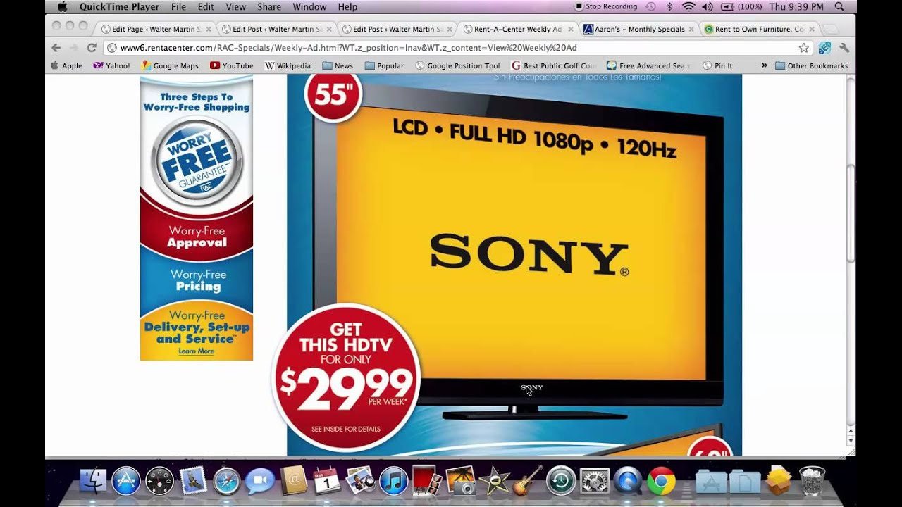 Rent To Own TV Prices March 2012   HD TV Prices Under $100 A Month
