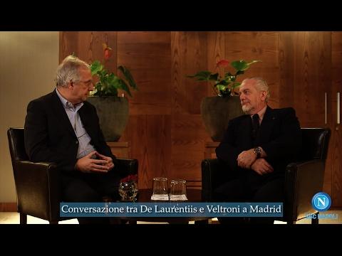 Conversazione tra Aurelio De Laurentiis e Walter Veltroni: esclusiva da Madrid.