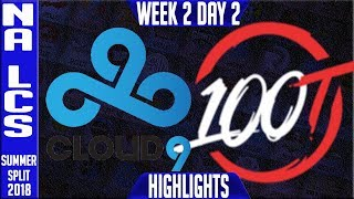 Video C9 vs 100 Highlights | NA LCS Summer 2018 Week 2 Day 2 | Cloud 9 vs 100 Thieves Highlights download MP3, 3GP, MP4, WEBM, AVI, FLV Juli 2018