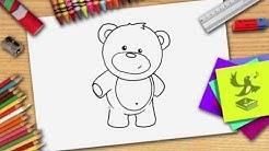 Wie zeichnet man einen Bär - Bären (Teddy) zeichnen lernen