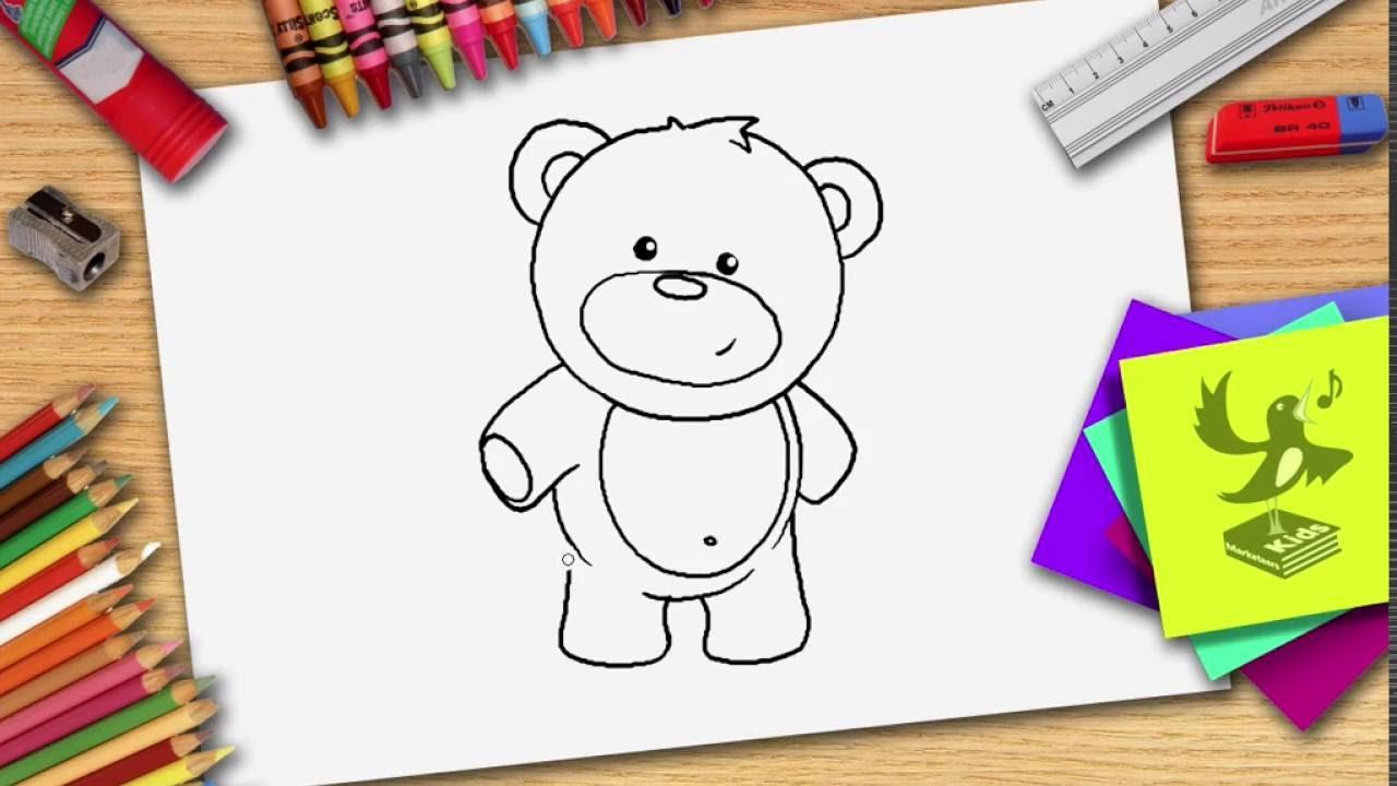 Wie Zeichnet Man Einen Bär Bären Teddy Zeichnen Lernen Youtube
