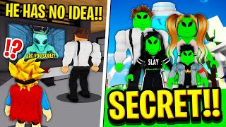 My Family Were SECRET ALIENS in Roblox BROOKHAVEN RP!!