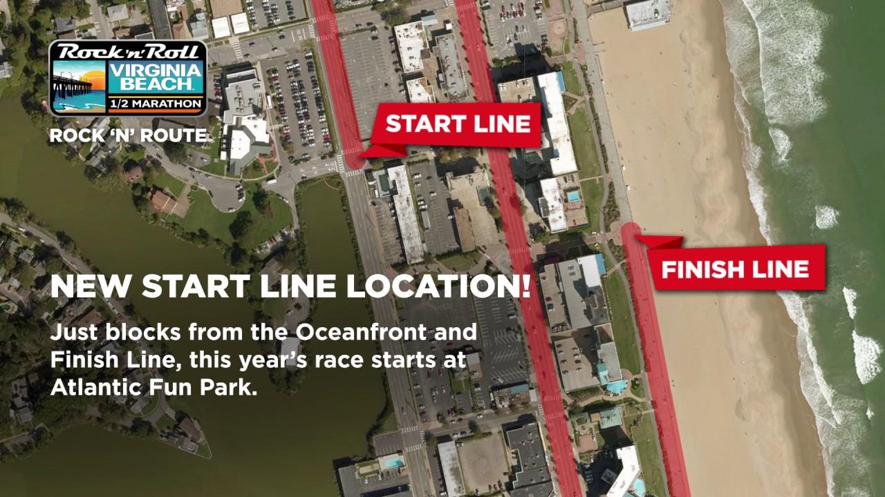 2017 Rock N Roll Virginia Beach Half Marathon Route