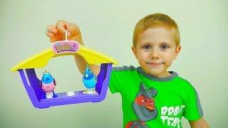 ПТИЧКИ и их песенки для детей - Даник играет с интерактивными игрушками Digi Birds
