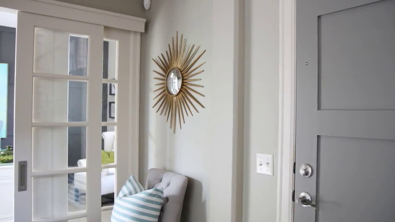 Grey Front Door White Frame at Home Designs - YouTube