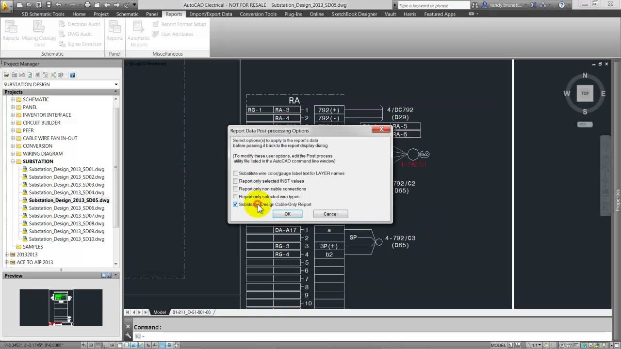 Cables Wiring Reports Autocad Electrical 2015 Autodesk Youtube
