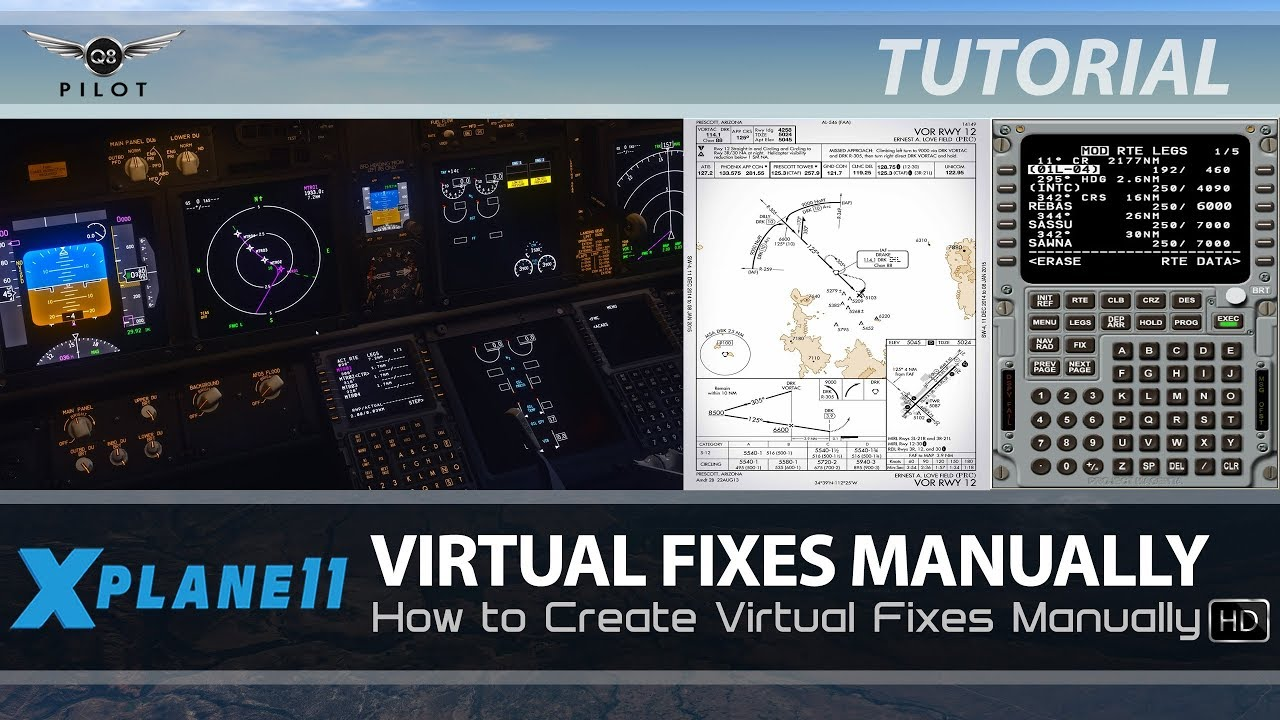 How to Create Virtual Fixes Manually   Boeing FMC   X-Plane 11