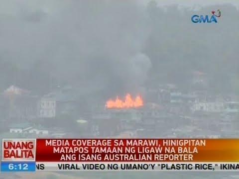 Media coverage sa Marawi, hinigpitan matapos tamaan ng ligaw na bala ang isang Australian reporter