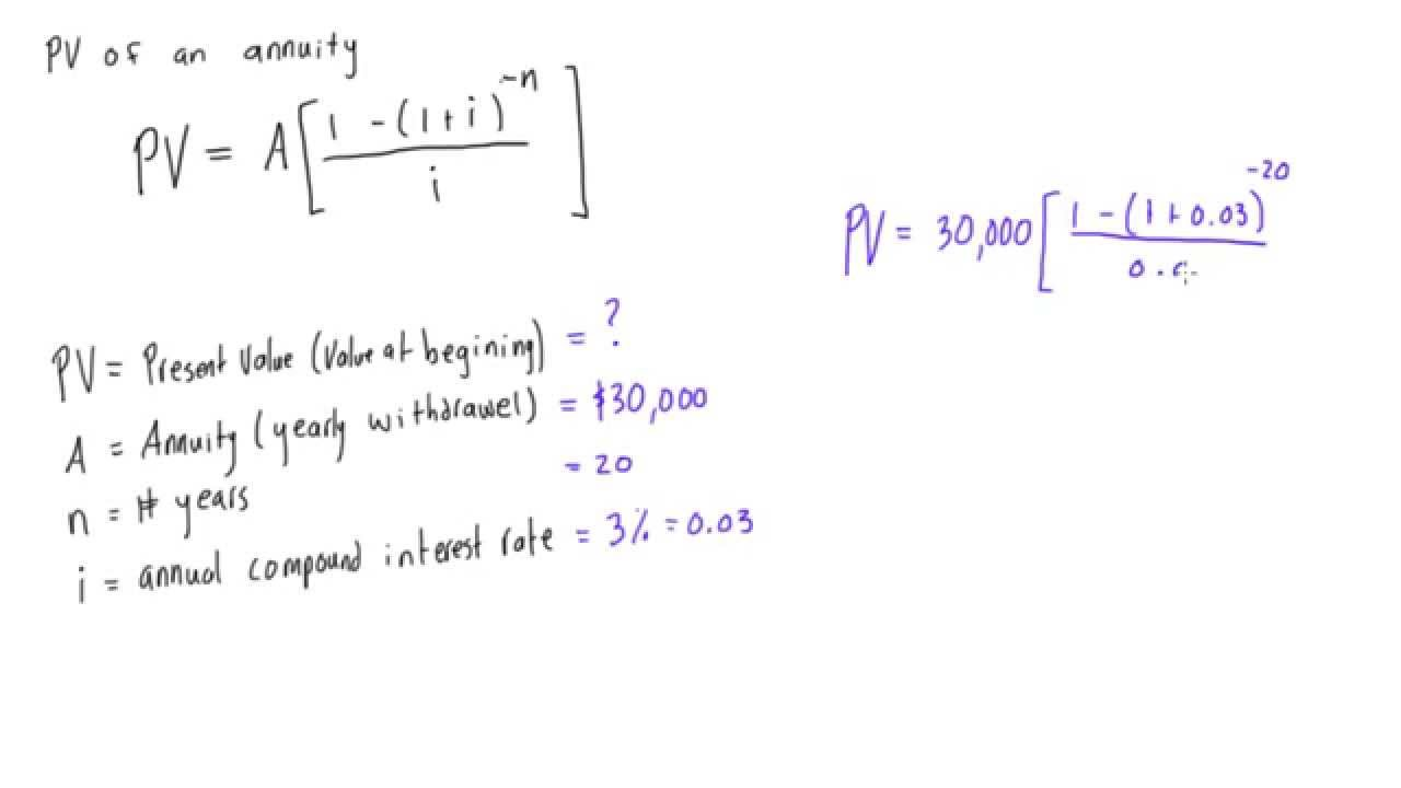 present value of an annuity