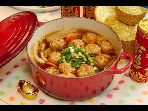 年菜輕鬆端上桌:紅燒獅子頭+松柏長青