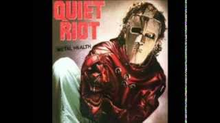 quiet riot cum on feel the noize guitar backing track with vocal