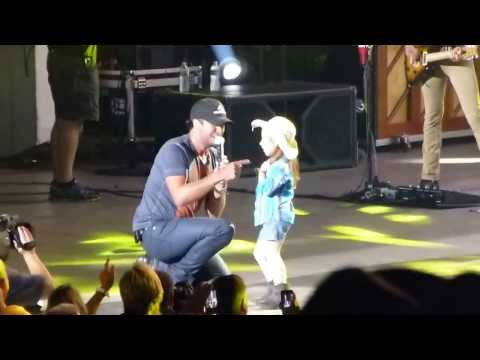 Luke Bryan and his newest star...PNC 08-24-13