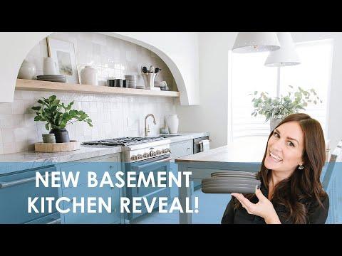 European Custom Kitchen Reveal | Designer Finishes Basement
