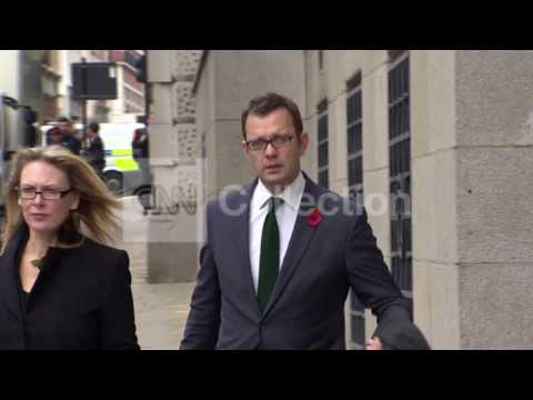 UK PHONE HACKING: BROOKS COULSON ARRIVALS