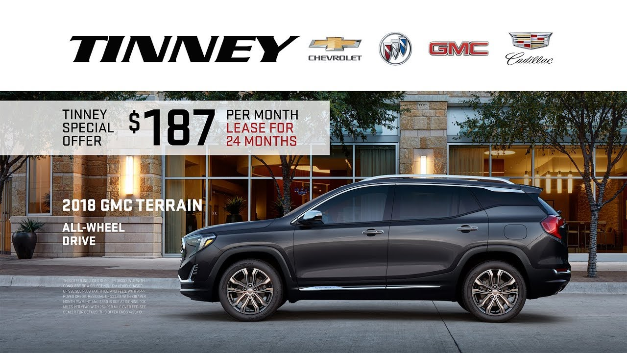 2018 Gmc Terrain Suv Current Lease Offers At Tinney Automotive Youtube