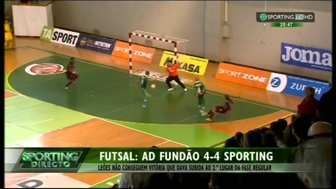 Futsal :: 26J :: Fundão - 4 x Sporting - 4 de 2014/2015