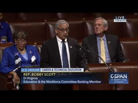 Ranking Member Scott: CTE Bill Ensures Equity Of Opportunity