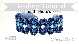 Lady Luck Bracelet Beading Tutorial by HoneyBeads1 (Photo tutorial)