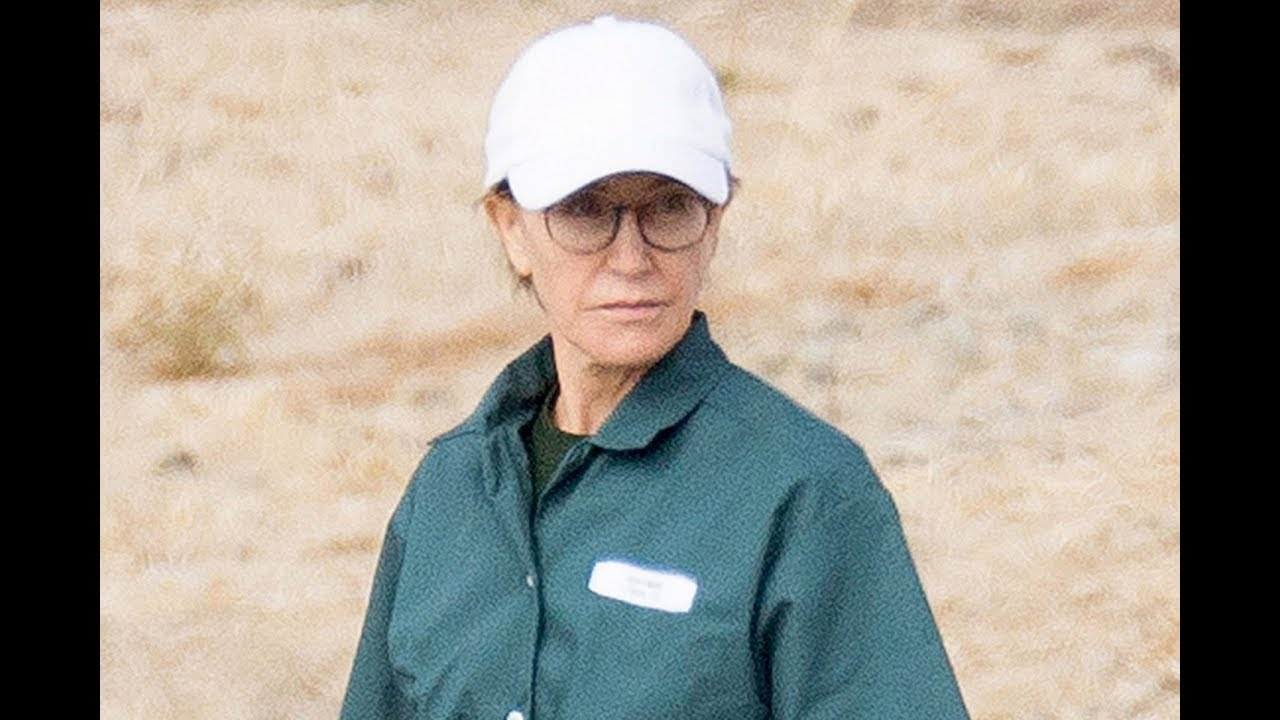 Felicity Huffman seen in green jumpsuit at California prison