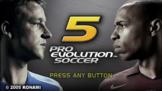 PES 5 PSP Gameplay