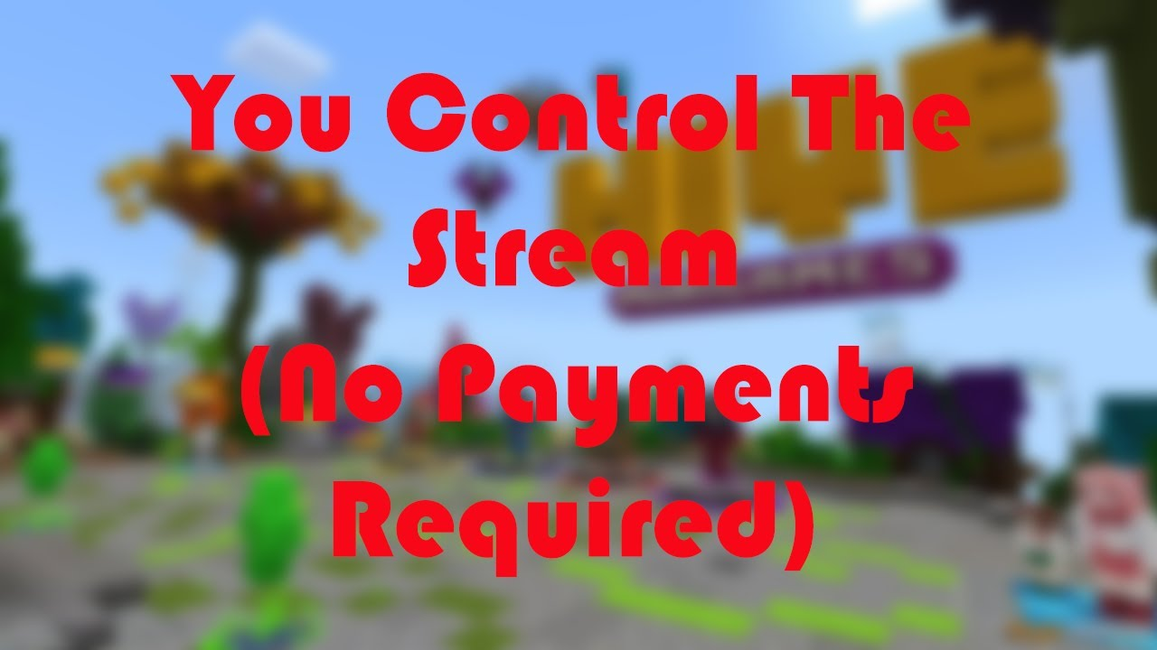 Minecraft But YOU Control The Stream!