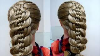 Коса с косичками. Причёска в школу. Видео-урок.
