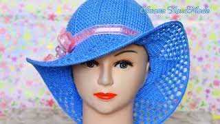 Шляпа крючком, вязание для начинающих.2/2.Мастер класс и схема. Hat crochet
