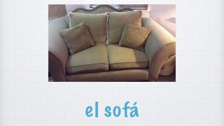 Spanish Video Flash Cards - La sala/The Living Room