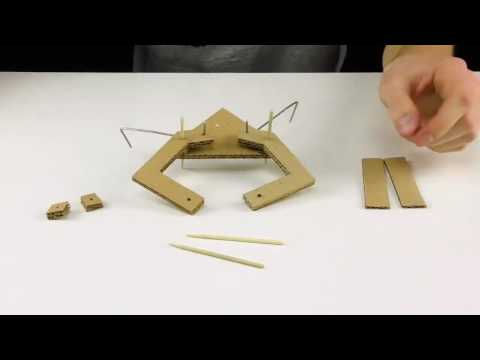 Crafts for Childrens , How to make JCB Crane