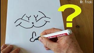 Was siehst du ? ///  Hase Trick Zeichnung + TOP Gehirn ausgetrickste Illusion Frohe Ostern