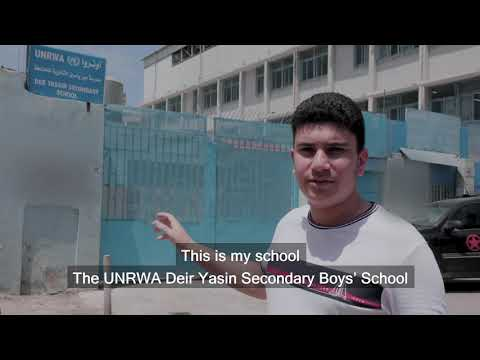 UNRWA Back to School 2019 - Ismail Ajjawi, Harvard Class of 2023