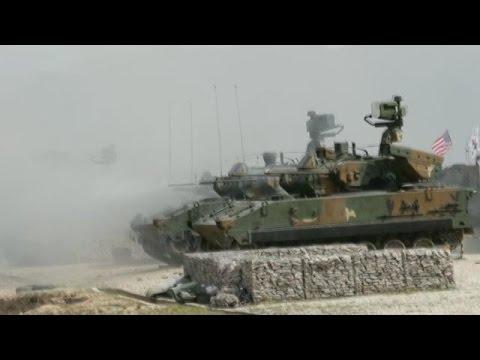 Coreia do Sul e Estados Unidos realizam exercícios com fogo real
