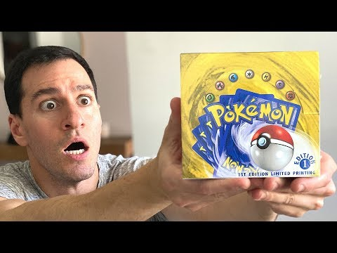 *THE RAREST BOX IN THE WORLD!* Vintage Pokemon Cards!