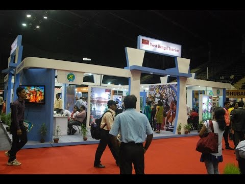 West Bengal Tourism (WBTDC) Stall At TTF 2014 At Kolkata (Calcutta), India HD Video
