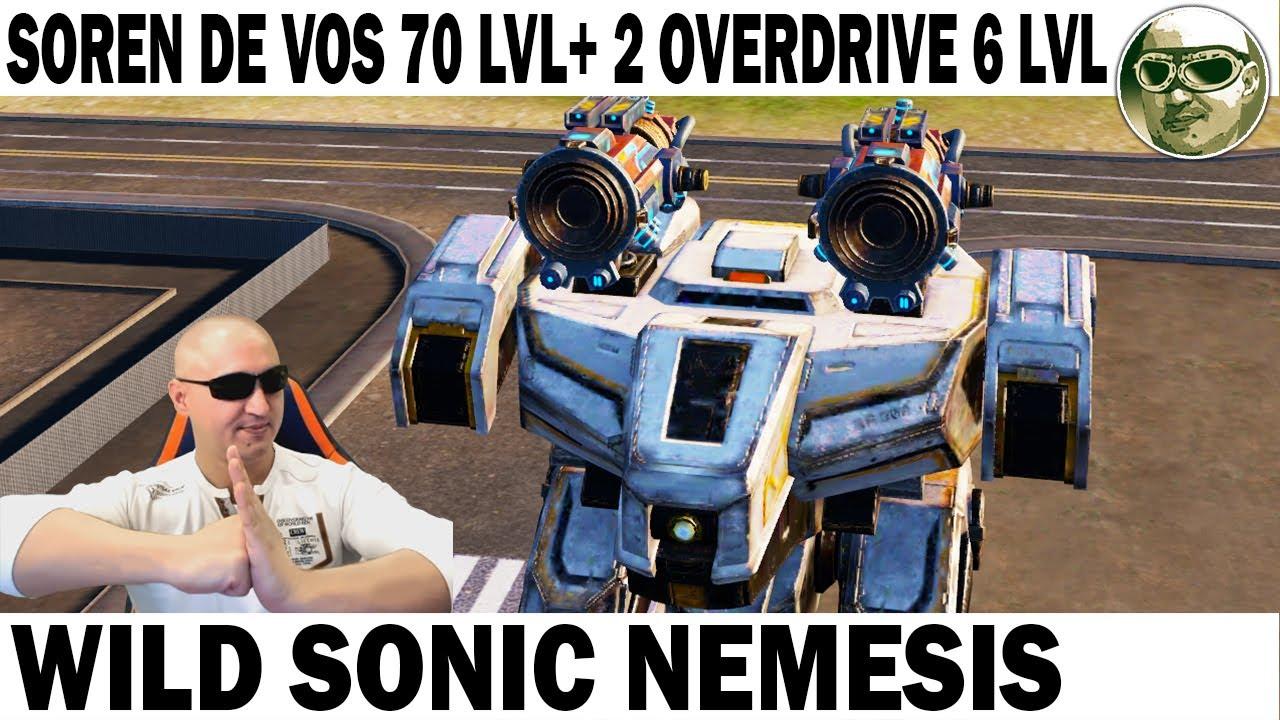 Download Wild Sonic Nemesis WAR ROBOTS REMASTERED Soren de vos 70 lvl+ 2 OVERdrive 6 lvl! Max gameplay wr