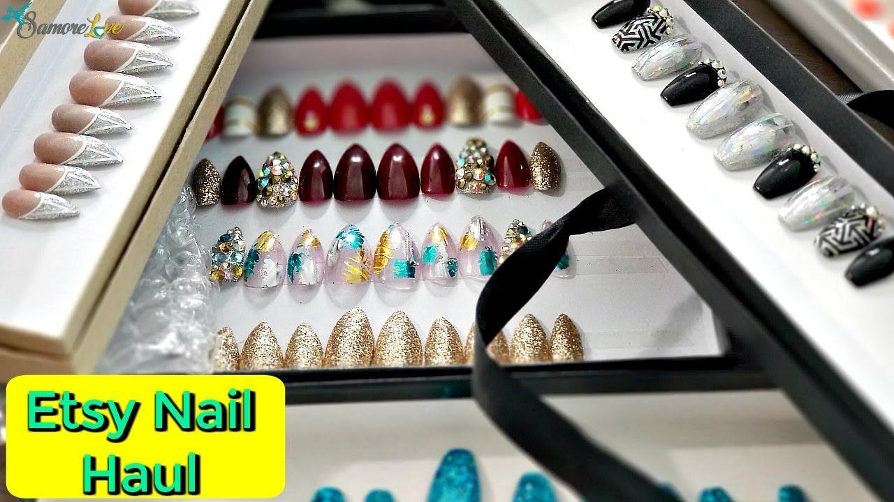 Etsy Press On Nail Haul 💅 Reusable Trendy Press On Nails ☆PT3 ...