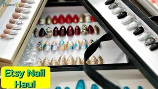 Etsy Press On Nail Haul 💅 Reusable Trendy Press On Nails ☆PT4