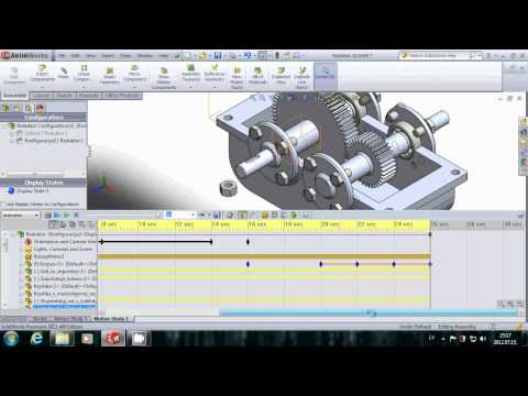 SolidWorks for beginner. Motion study, animation